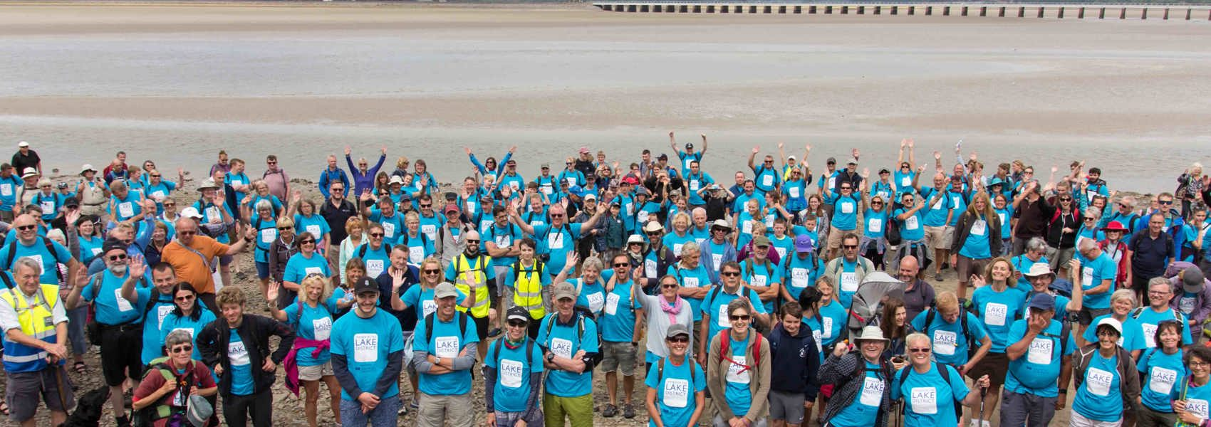 Record fundraising for local charity's Morecambe Bay Walk