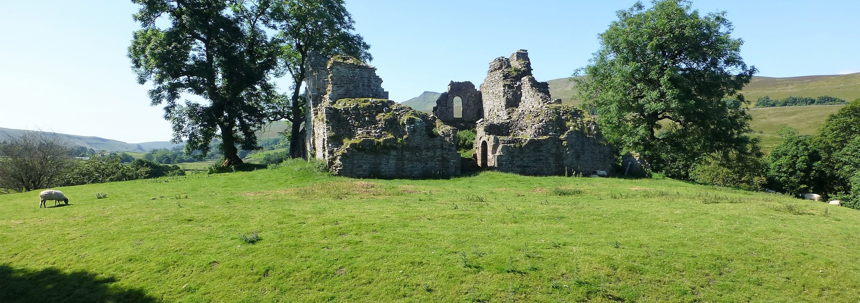 Lime kiln excavated at Pendragon Castle