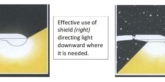 Good lighting principles for reducing Light Pollution